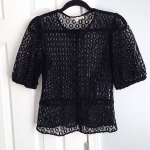 Nanette Lepore lace bow top